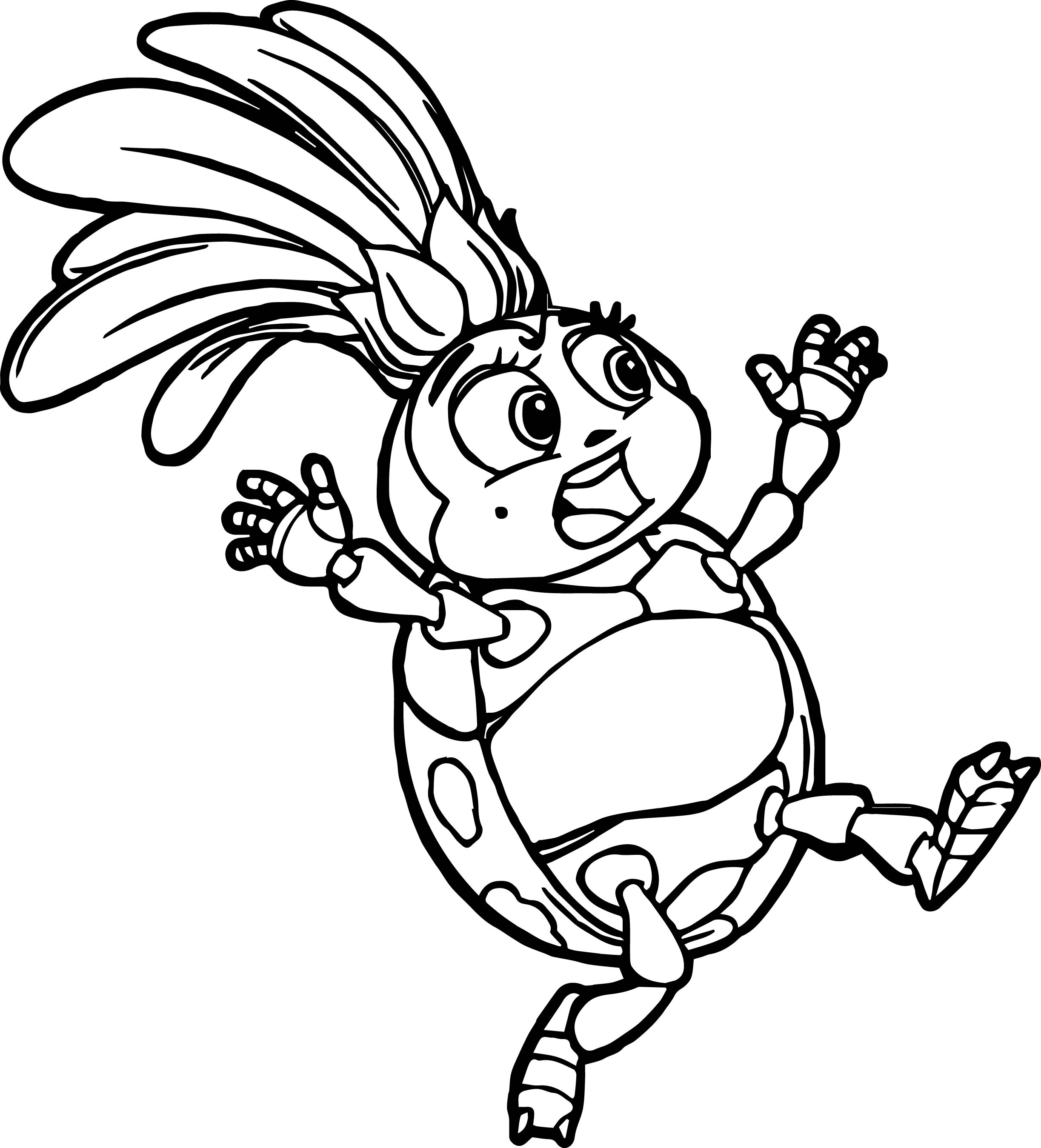 Uncategorized Bugs Life Coloring Pages francis ladybug coloring page wecoloringpage page