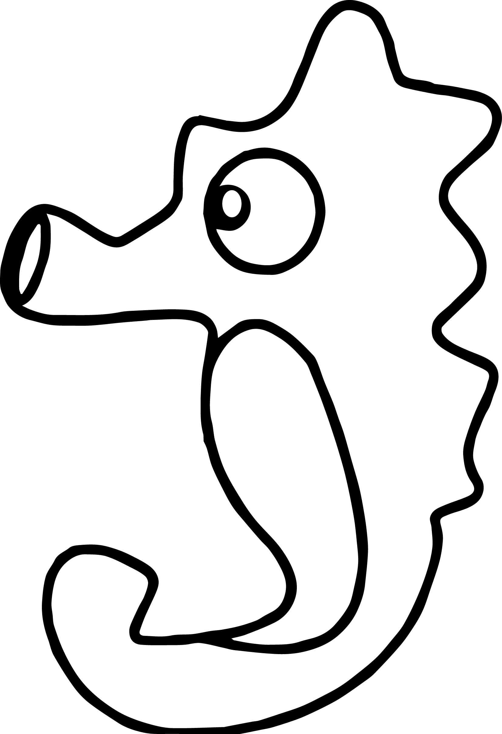 Free Nice Seahorse Sea Water Animals Coloring Page