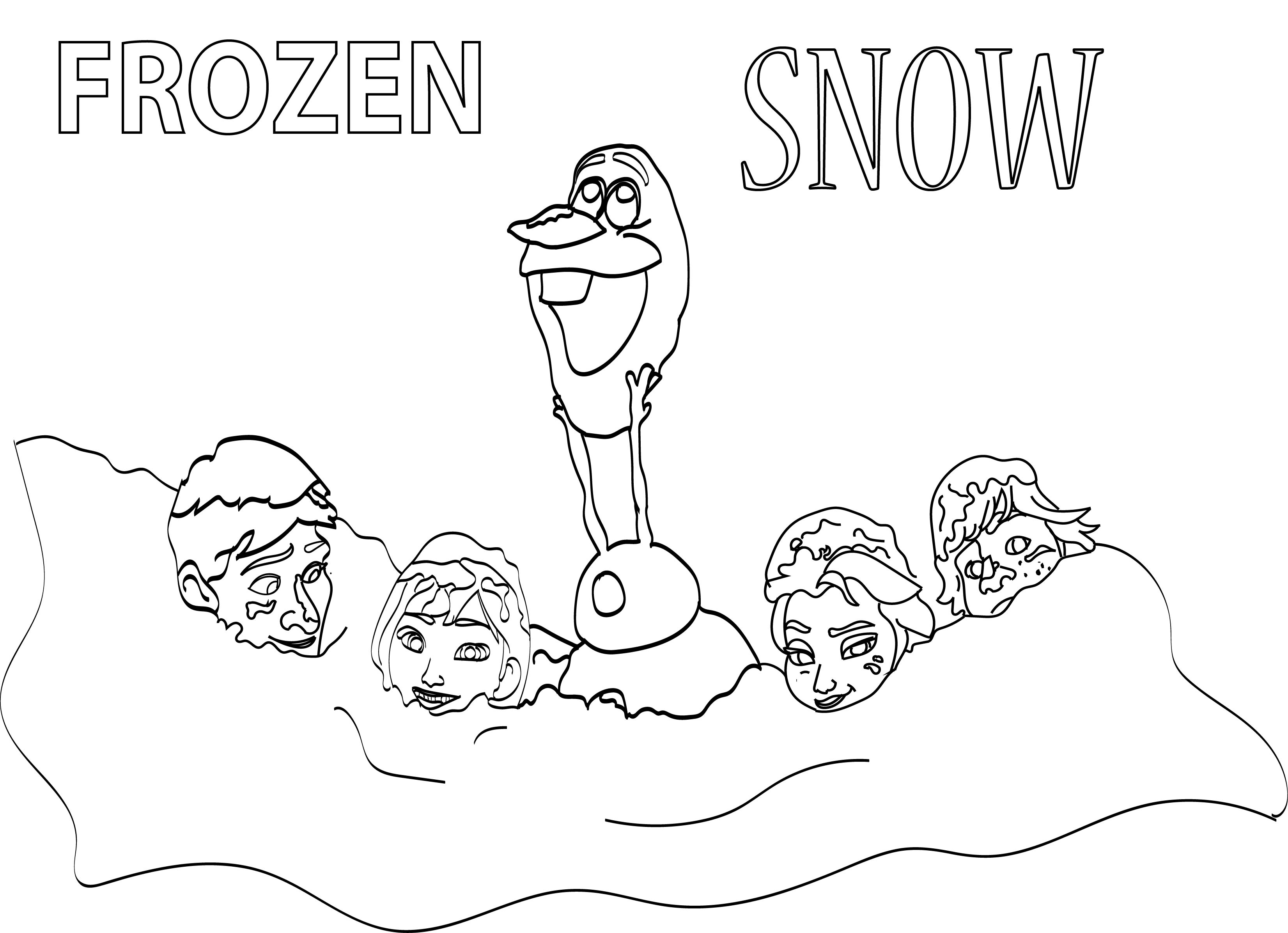 Frozen In Snow Coloring Page Wecoloringpage