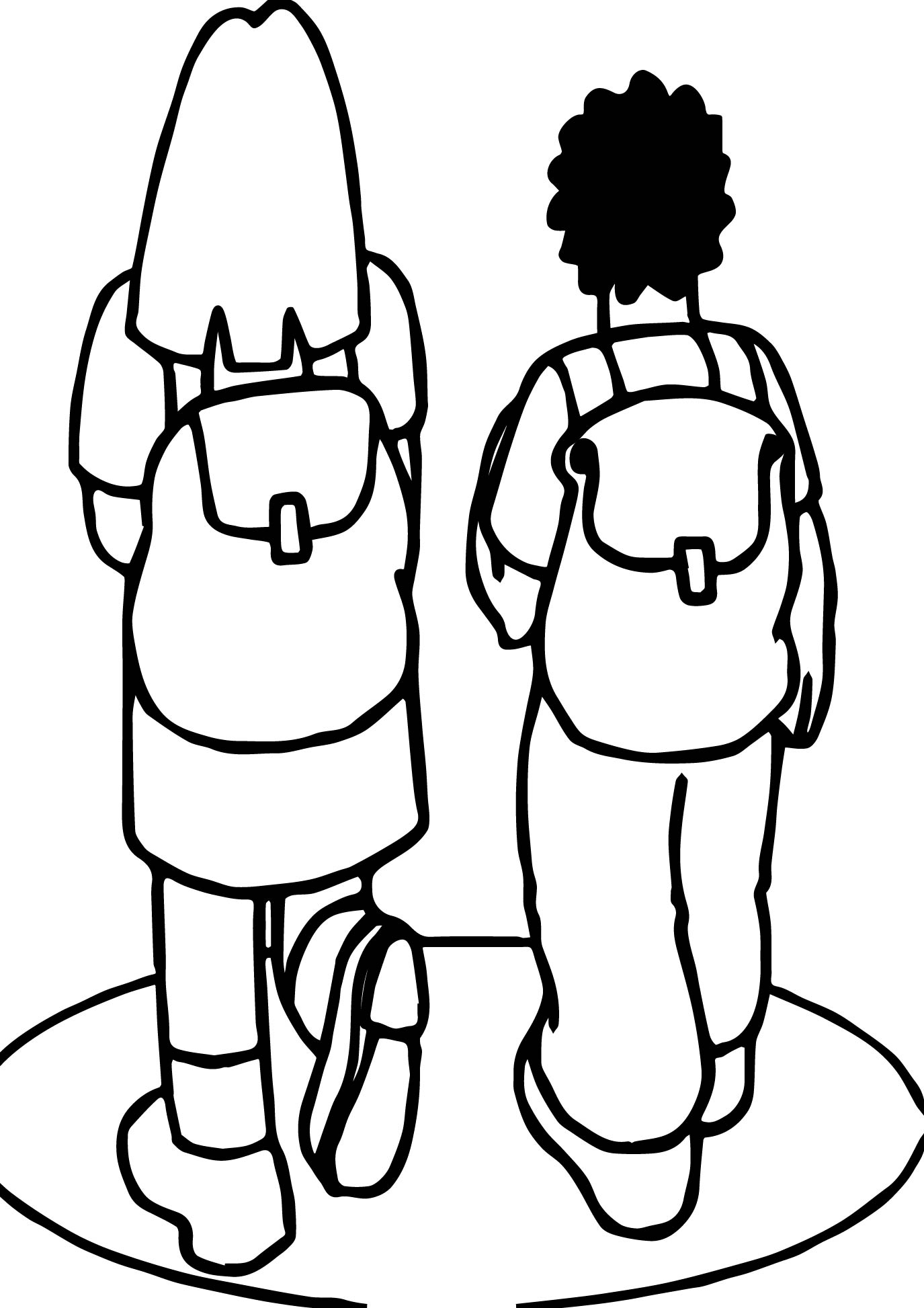 Girl And Boy Going To School Coloring Page Wecoloringpage