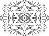 Good Shape Mandala Coloring Page