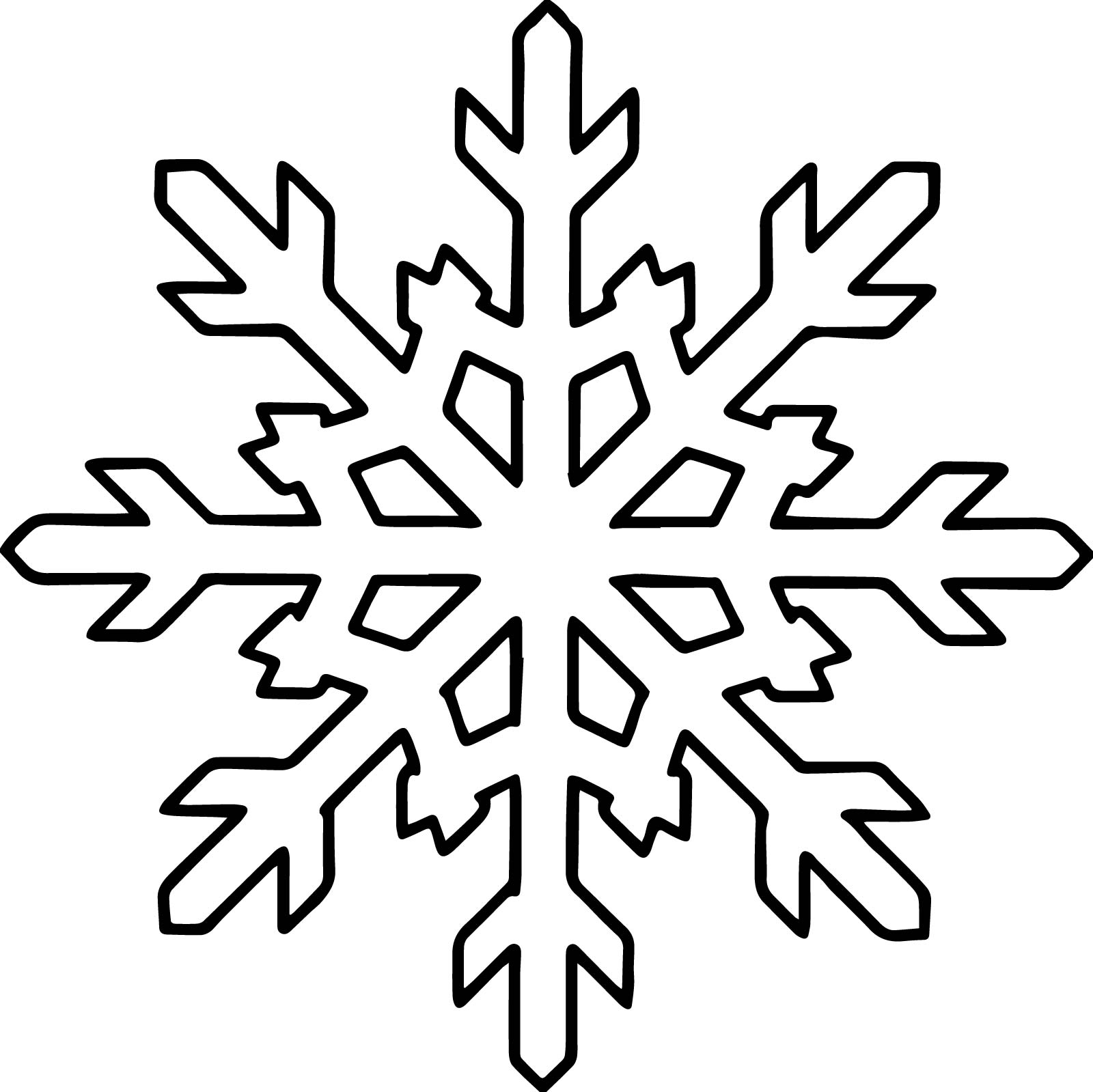 Good Snowflake Coloring Page