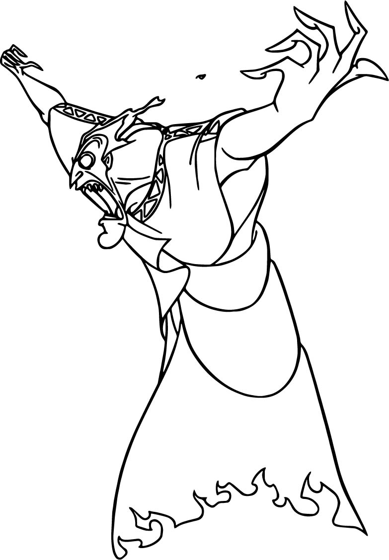 Hades Angry Coloring Pages