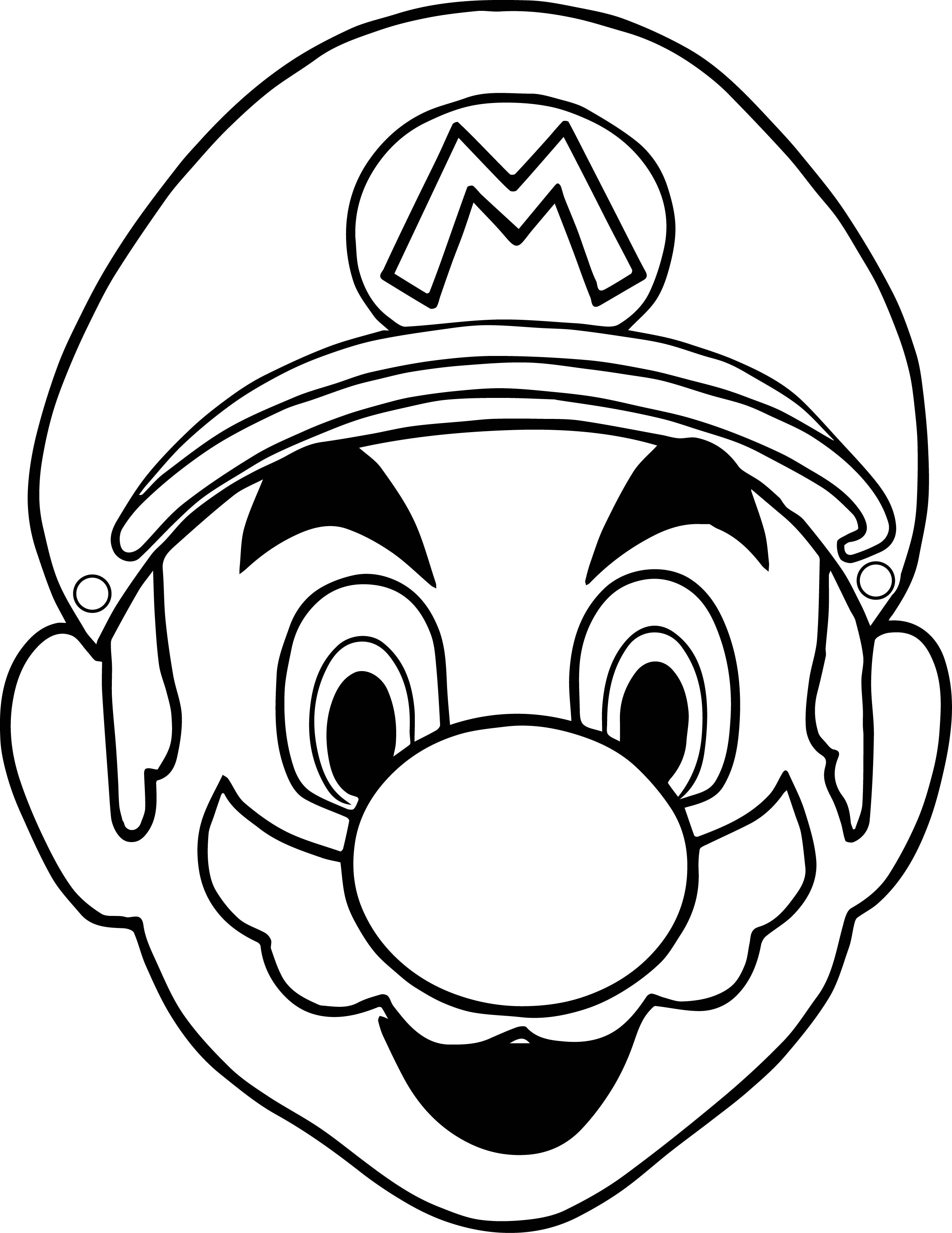 Halloween masks super mario face coloring page for Coloring pages masks