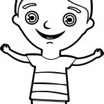 Happy Kids Boy Coloring Page