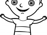 Happy Kids Boy Coloring Page
