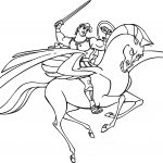 Hercules And Pegasus Fighting Coloring Pages