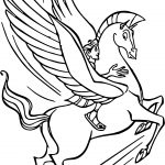 Hercules And Pegasus Flying Coloring Pages