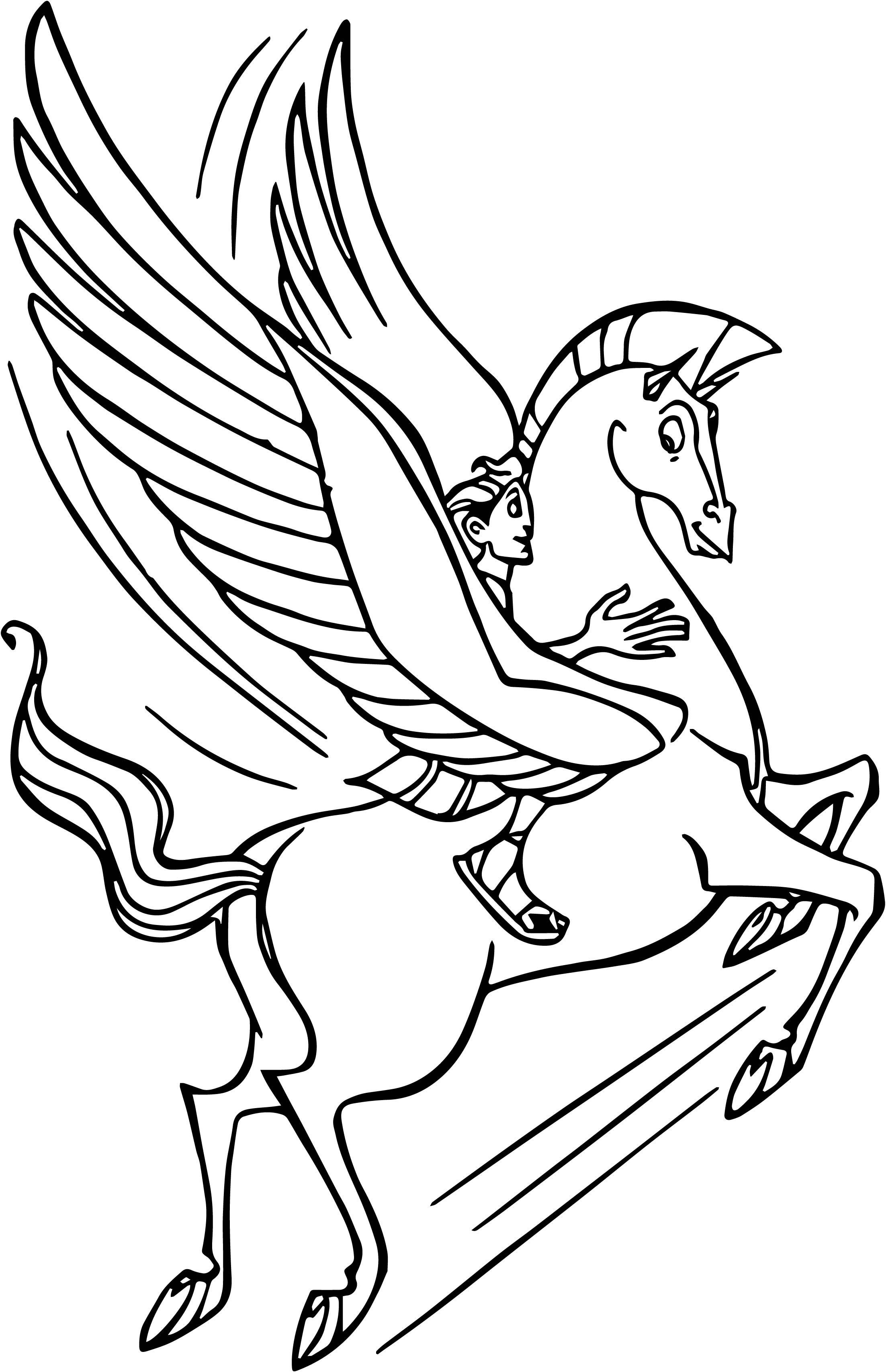 Hercules and pegasus flying coloring pages for Coloring pages of pegasus