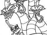 Hercules Dragon Fight Coloring Pages