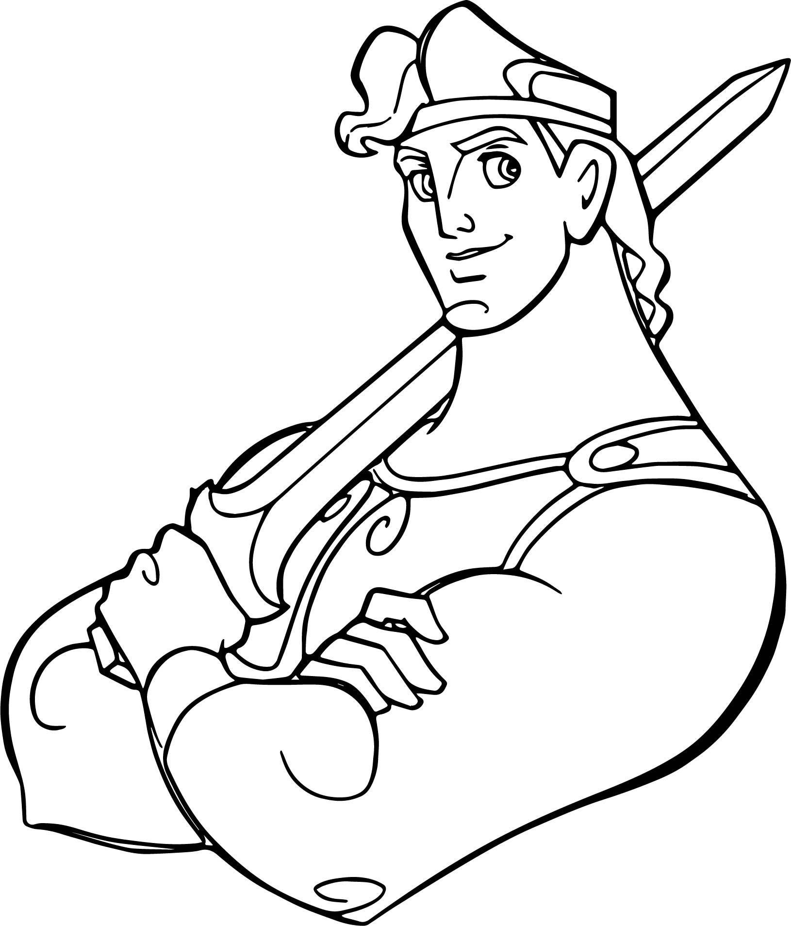 Hercules Ules Sword Pose Coloring Pages