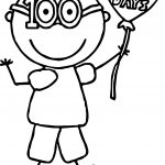 Hundred Day Boy Coloring Page