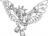 Icharus Flying Coloring Page