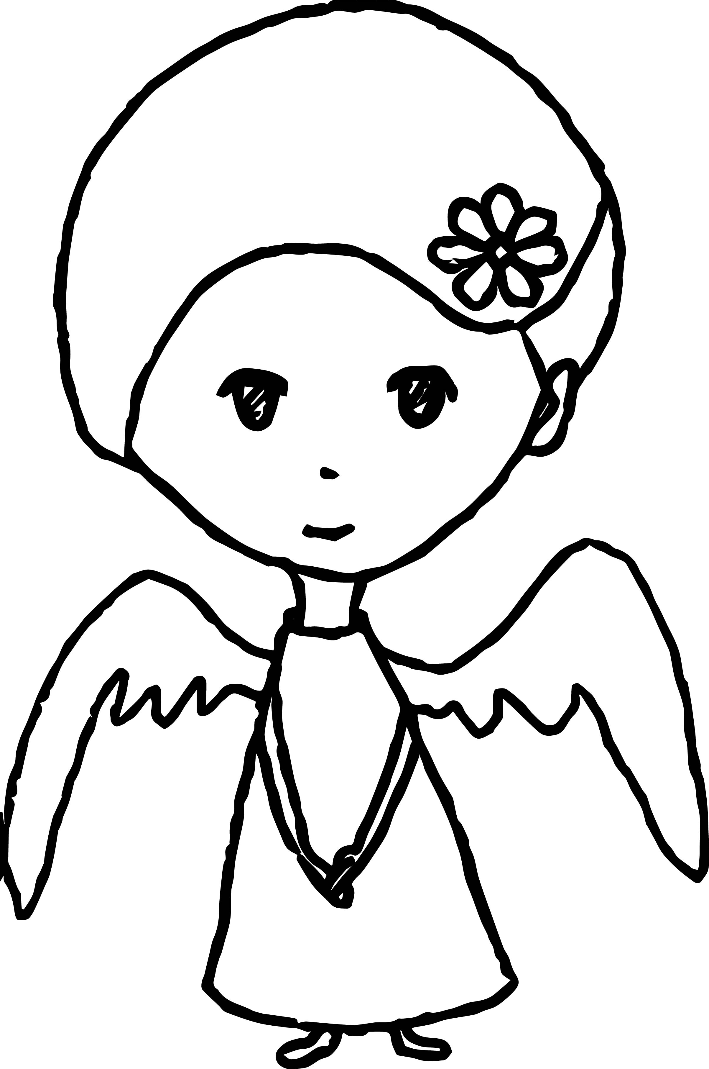 Innocent Angel Coloring Page