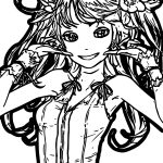 Juice Anime Girl Coloring Page