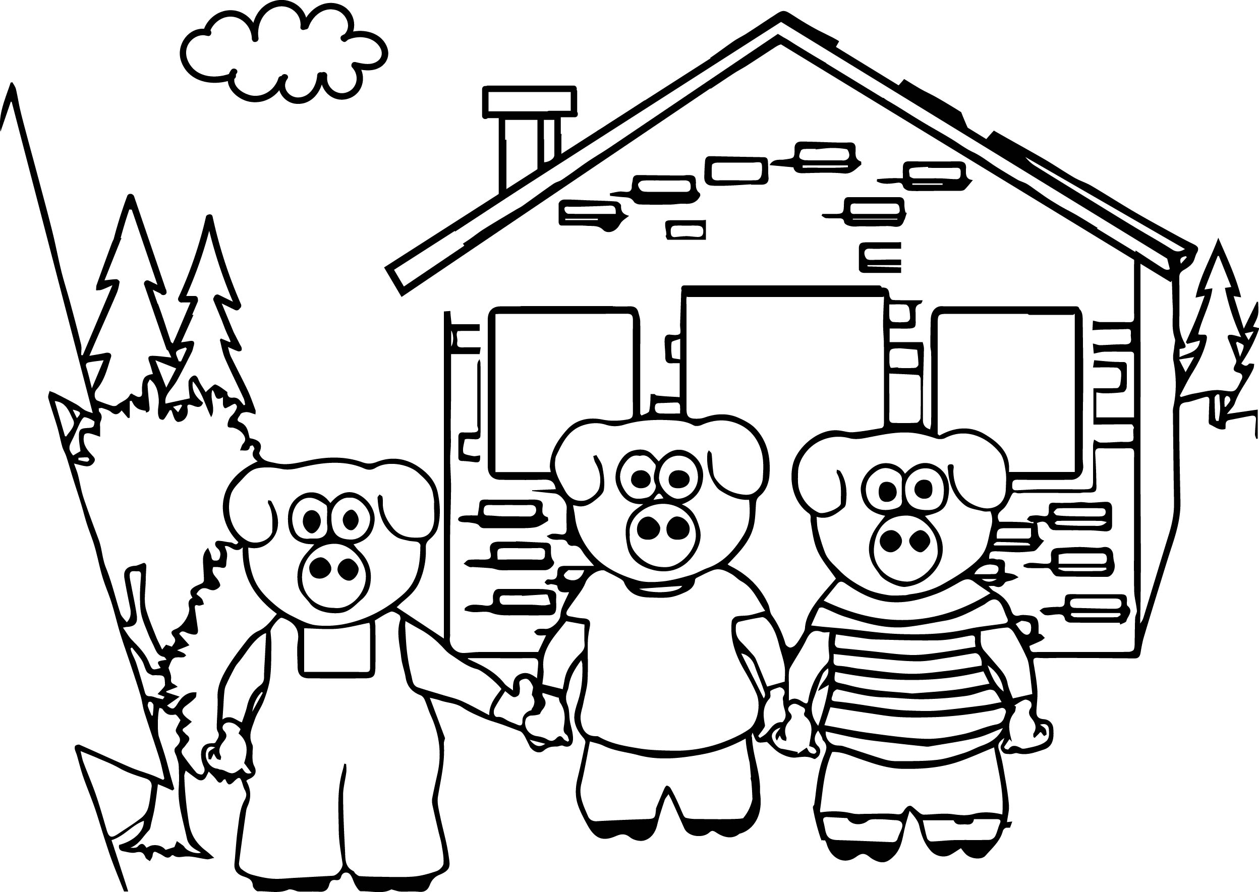 Coloring pages 3 little pigs - Keys To Literacy Three Little Pigs Coloring Page