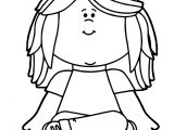 Kid Sitting On Math Minus Symbol Kids Coloring Page