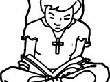 Kids Bible Reading Bible Coloring Page