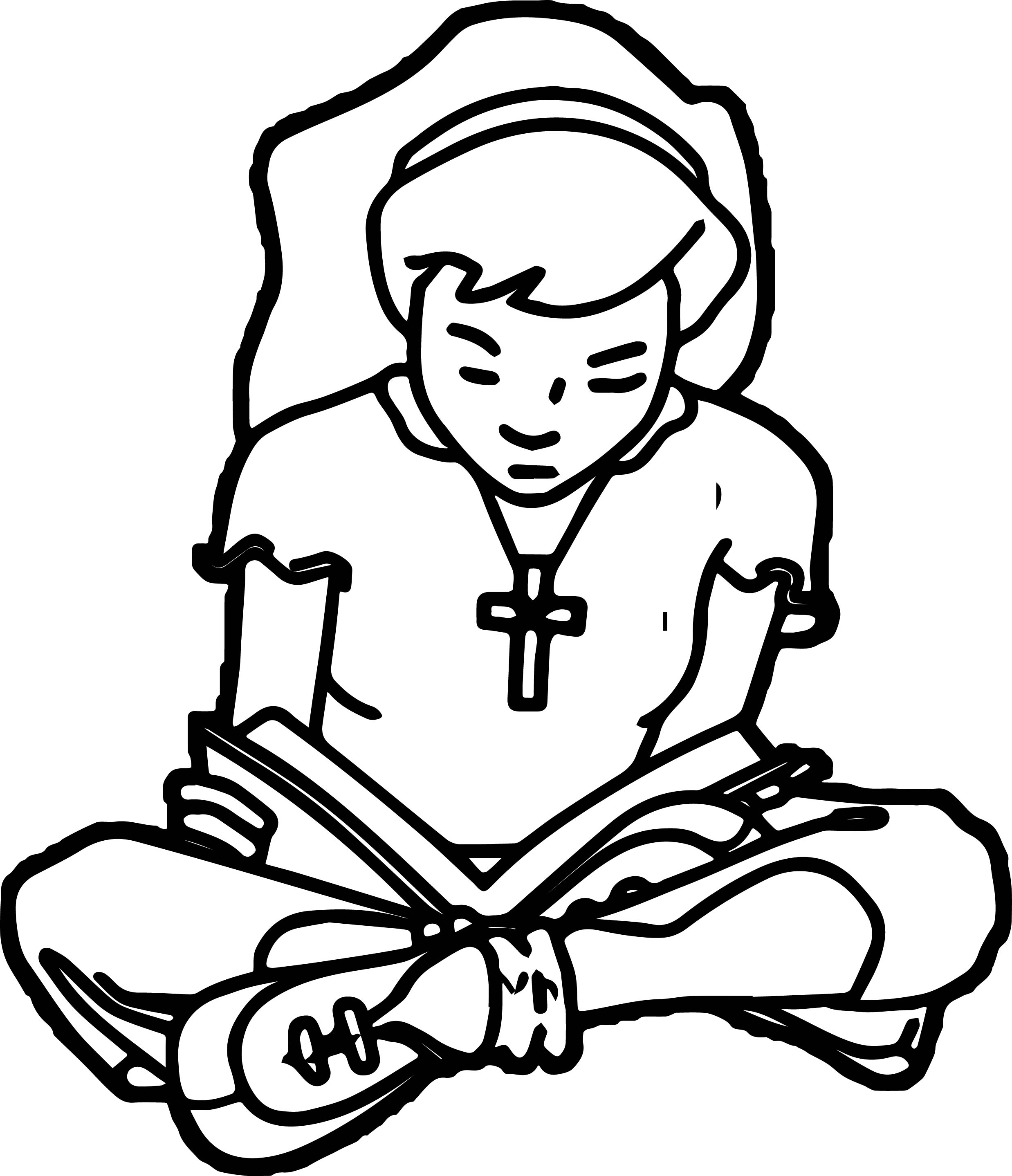 95 Reading Bible Coloring Page