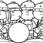 Kids Building A Snowman Kids Coloring Page