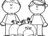 Kids Fall Pumpkins Kids Coloring Page