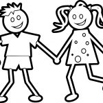 Kids Figure Coloring Page