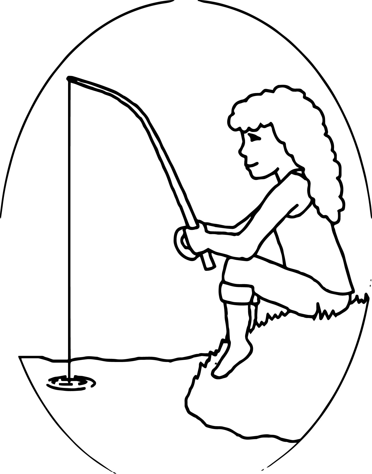 Fishing Coloring Pages Rainbow Hungry Camel Fishing