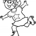 Kids Girl Skate Coloring Page