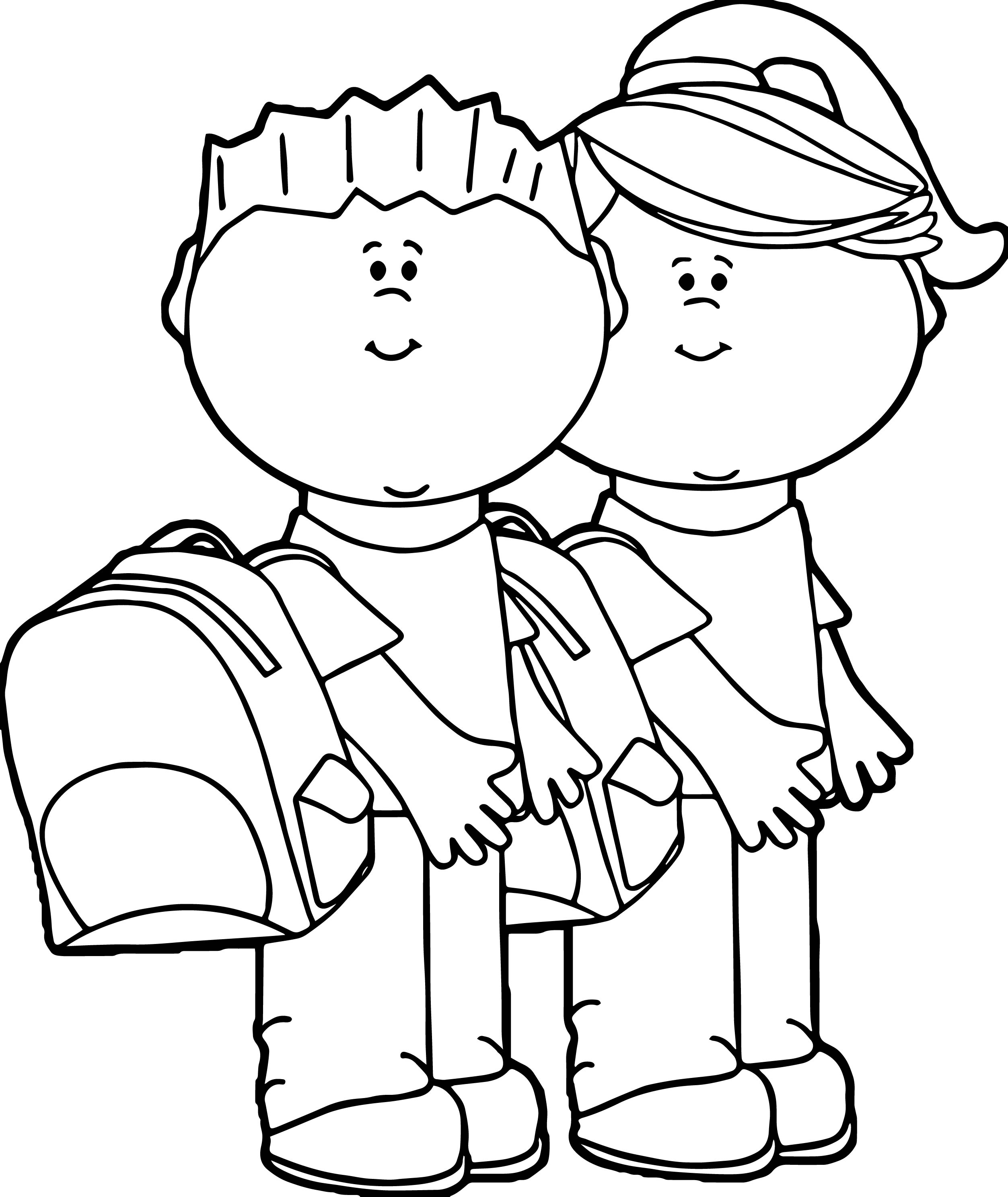 school children coloring pages - photo#15