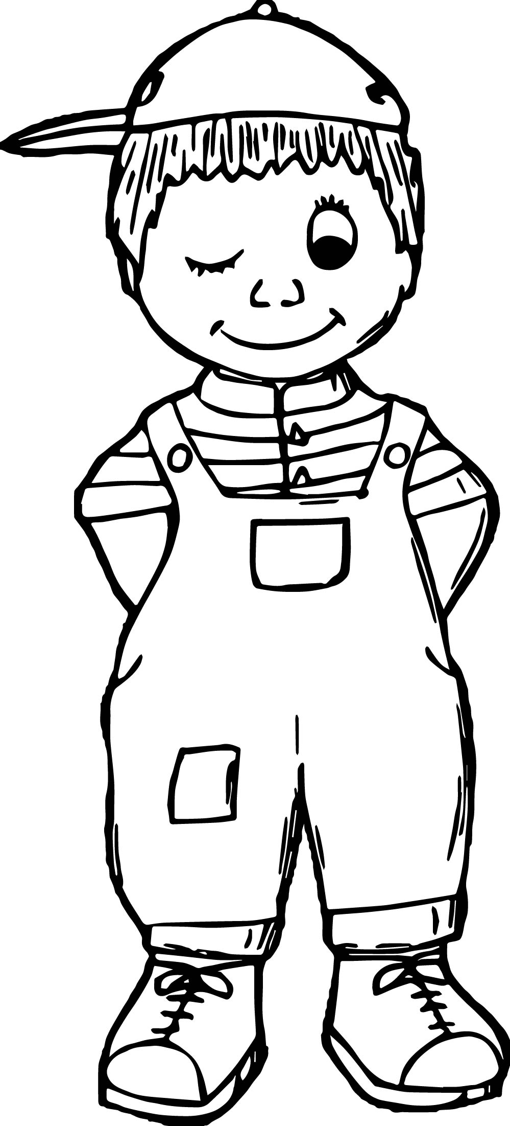 Kids Hat Coloring Page Wecoloringpage Com