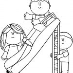 Kids In The Park Coloring Page