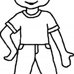 Kids Look Coloring Page