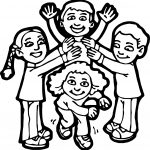Kids Play Coloring Page