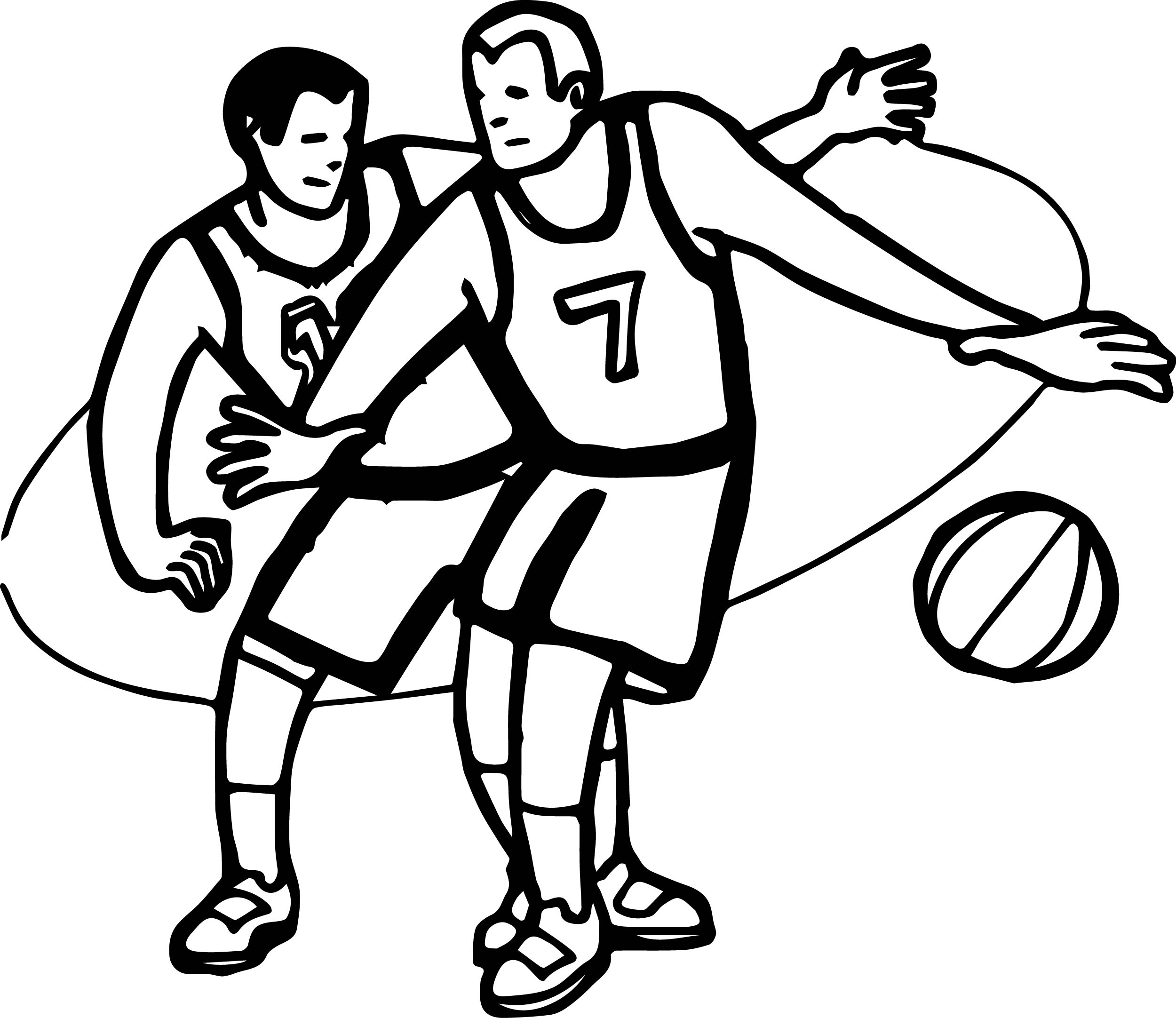 kid playing basketball coloring pages - photo#10