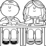 Kids Playing With Clay Coloring Page