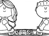 Kids Sitting On Rug Putting Puzzle Together Kids Coloring Page