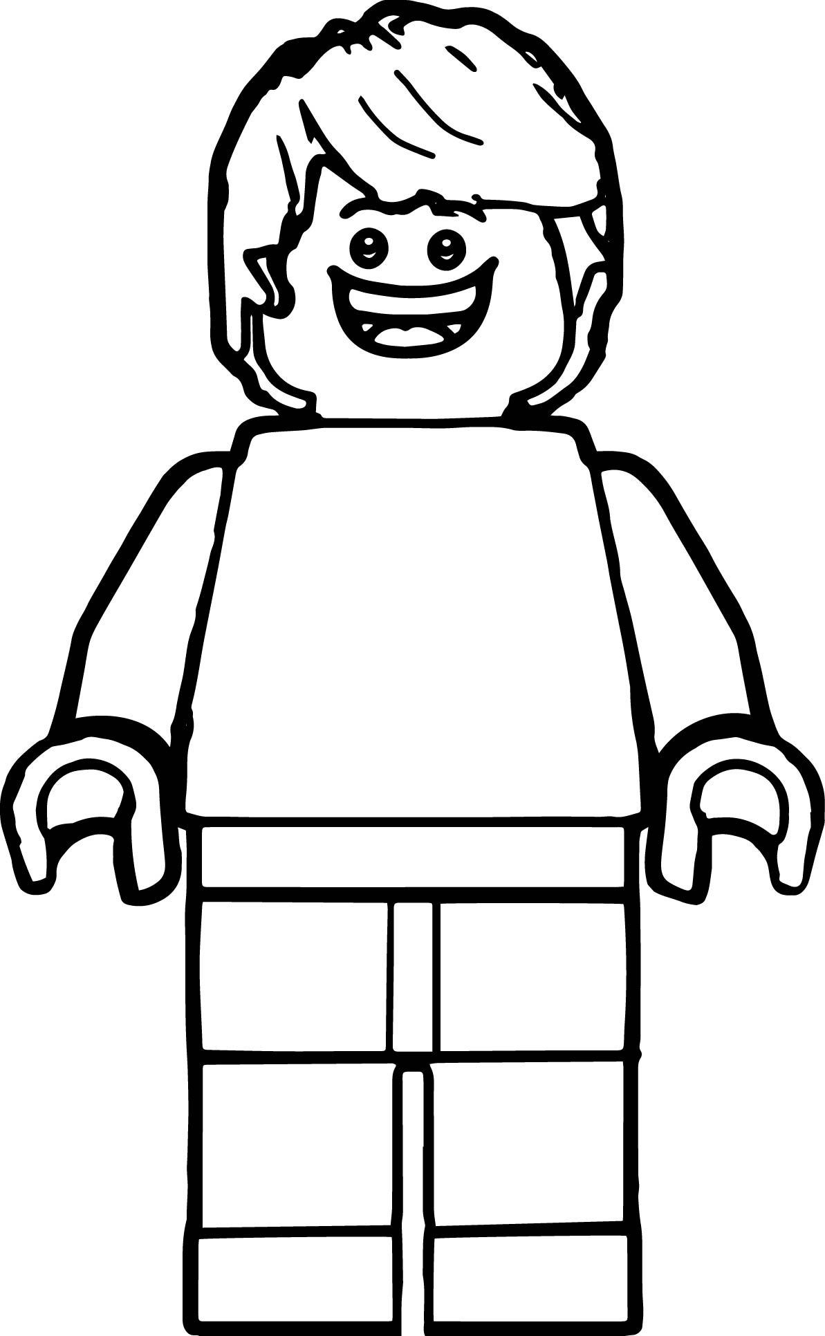 Lego man coloring page for Coloring pages man