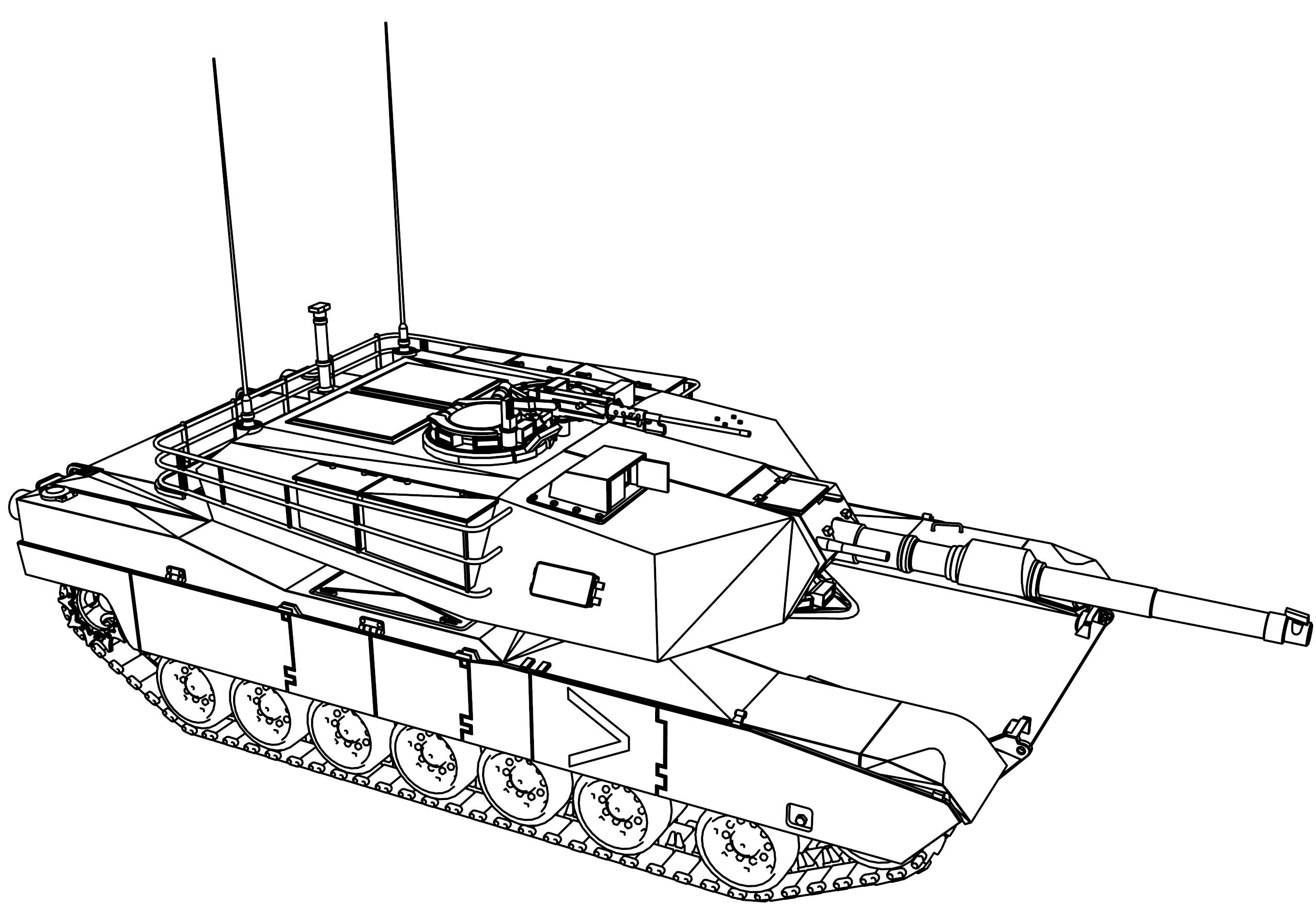 m1 abrams tank coloring page wecoloringpage