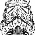 Mandala Mask Skull Coloring Page