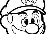 Mario Head Icon Coloring Page