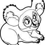 Marsupial Koala Coloring Page