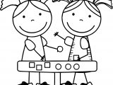 Math Game Girl Kids Coloring Page