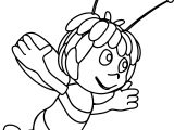 Maya Bee Fly Coloring Page