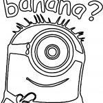 Minion Banana Question Coloring Page