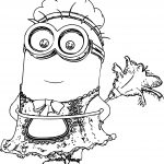 Minion-Cleaner-Coloring-Page