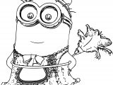 Minion Cleaner Coloring Page