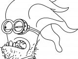 Minion Creature Angry Coloring Page