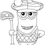 Minion Golfer Coloring Page