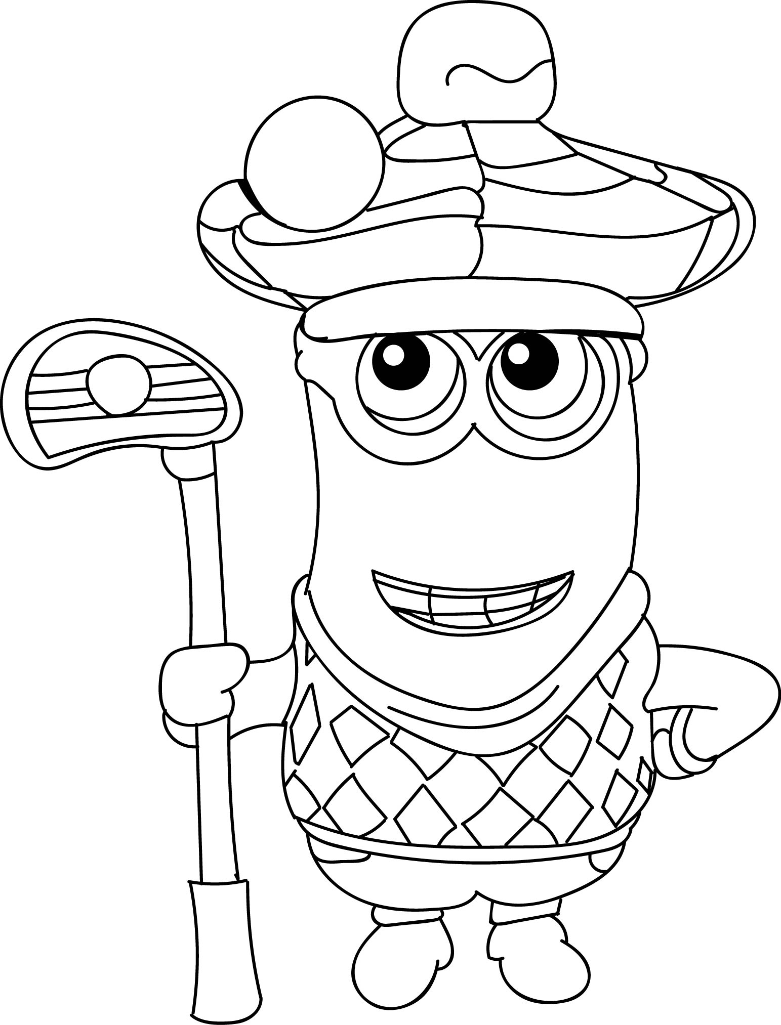 Minion Golfer Coloring Page