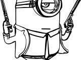 Minion Gun Coloring Page